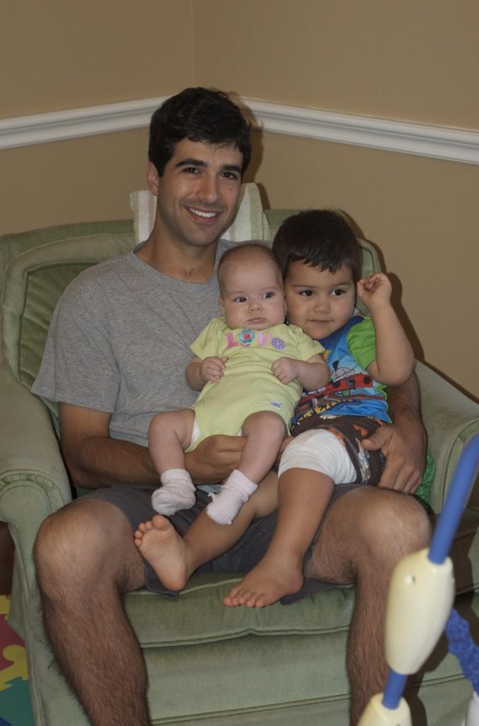 Chris, Anna, & Cooper on Saturday Morning